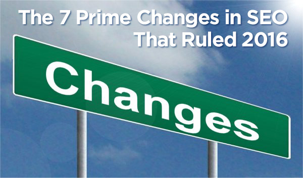 7 prime changes in seo road sign